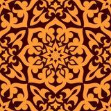 Śmiały geometryczny muzułmański bezszwowy wzór Obrazy Royalty Free