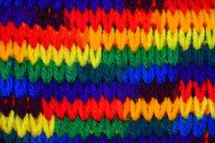 Śmiały kolorowy dziewiarskiego ściegu tło Fotografia Stock