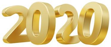 2020 śmiałych listów 3d-illustration Zdjęcie Stock