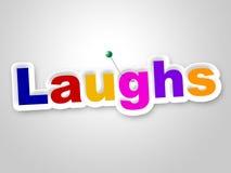 Śmiechu znak Wskazuje Śmiać się Haha I humor ilustracji
