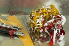 Śmieci świstki Fotografia Royalty Free