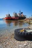 Śmieci i odpady na plaży obrazy stock