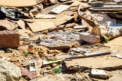Śmieci na ulicach metropolia Istanbuł obrazy stock