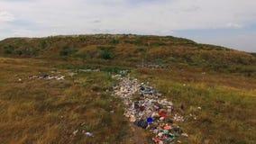 Śmieci opuszcza przed wzgórzem zbiory wideo