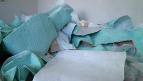 Śmieci stos usuwać stare tapety na podłoga zbiory