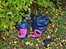 Śmieci w lesie Obraz Royalty Free