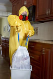 Śmieci z Haz maty traktowaniem Fotografia Royalty Free