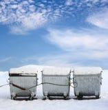 Śmieciarscy zbiorniki Zdjęcia Royalty Free