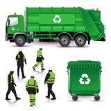 Śmieciarska ciężarówka royalty ilustracja