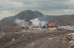 śmieciarskie ciężarówki obrazy royalty free