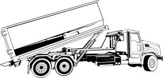 Śmieciarskiej ciężarówki Kreskowej sztuki projekt Obraz Stock