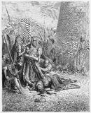 Śmierć Abimelech ilustracja wektor
