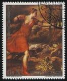 Śmierć Actaeon Titian obraz stock