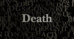 Śmierć - 3D odpłacająca się kruszcowa typeset nagłówek ilustracja ilustracji