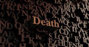 Śmierć - Drewniani 3D odpłacający się listy/wiadomość ilustracji