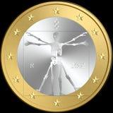 Śmierć euro moneta zdjęcia stock