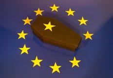Śmierć Europejski zjednoczenie fotografia stock