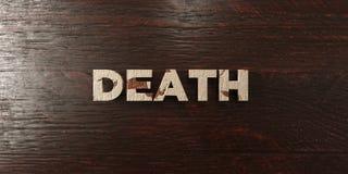 Śmierć - grungy drewniany nagłówek na klonie - 3D odpłacający się królewskość bezpłatny akcyjny wizerunek royalty ilustracja