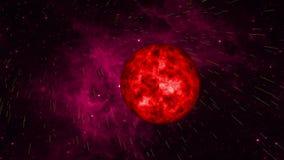 Śmierć gwiazda w przestrzeni royalty ilustracja