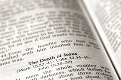 Śmierć Jesus obraz stock