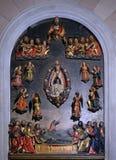 Śmierć Mary, wniebowzięcie i podpasanie Thomas, obrazy royalty free