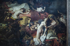 Śmierć Sardanapale Obraz olejny na kanwie Eugène Delacroix zdjęcia royalty free