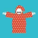 Śmierć w piżamach Ponura żniwiarka w koloru kapiszonie Peleryna kwitnie patte ilustracji