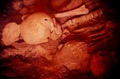 Śmierć w Pompeii, ofiara powulkaniczne erupcje Fotografia Royalty Free
