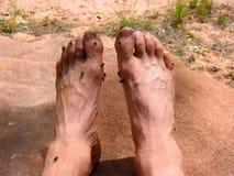 śmierdzące stopy Fotografia Royalty Free
