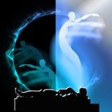 Śmiertelna dusza i życie po śmierci, życie pozagrobowe obraz stock
