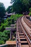 Śmiertelni kolejowi ślada fotografia stock