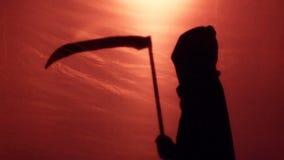 Śmiertelny cień skrada się ofiara, krwista wojna lub choroby killing epidemiczni ludzie, zbiory