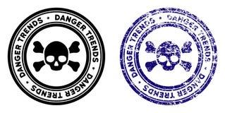 Śmiertelny niebezpieczeństwo trendów znaczek z Grunge skutkiem ilustracja wektor