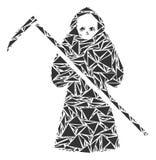 Śmiertelny Scytheman kolaż trójboki ilustracja wektor