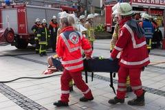 Śmiertelny wypadek uliczny - osoba łapać w pułapkę Zdjęcie Stock
