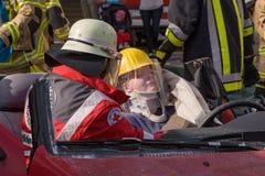 Śmiertelny wypadek uliczny - osoba łapać w pułapkę Zdjęcia Royalty Free