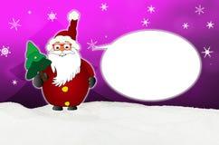Śmieszna Święty Mikołaj komiczka z szkło balonowym okulistą ilustracji