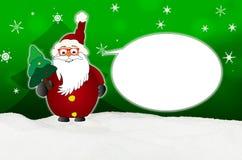 Śmieszna Święty Mikołaj komiczka z szkło balonowym okulistą ilustracja wektor