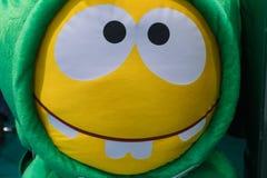 Śmieszna żółta twarz, zęby Fotografia Royalty Free