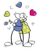 śmieszna cuple miłość ilustracji