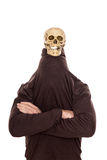 Śmieszna czaszka na mankierowniczy Fotografia Royalty Free