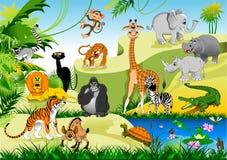 Śmieszna dżungla ilustracji