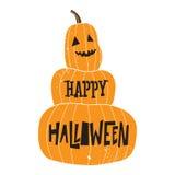 Śmieszna dyniowa Halloween karta z teksturą Fotografia Stock