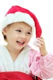 śmieszna dziewczyna Santa obrazy stock