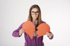 Śmieszna głupek kobieta w studiu Zdjęcie Royalty Free