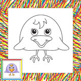 Śmieszna i śliczna wrona Fotografia Stock