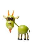 Śmieszna kózka robić jabłko fotografia stock