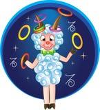 Śmieszna kózka z barwionymi pierścionkami Obraz Royalty Free