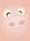 Śmieszna kreskówki świnia Fotografia Stock