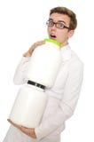 Śmieszna lekarka odizolowywająca Zdjęcie Stock